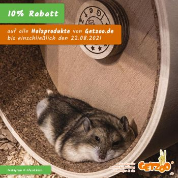 Getzoo-Rabatt-August-2021-Holzprodukte-Tierprodukte-Kleintiere-Hamster-Sale