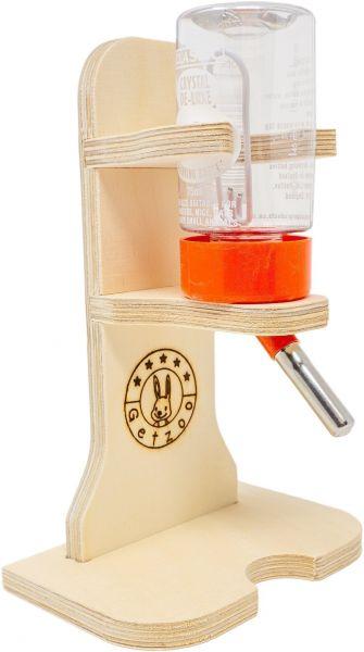 Getzoo Tränke aus Holz + 75 ml Trinkflasche von Classic®
